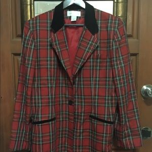 VTG Casual Corner London Plaid Blazer-Size 16